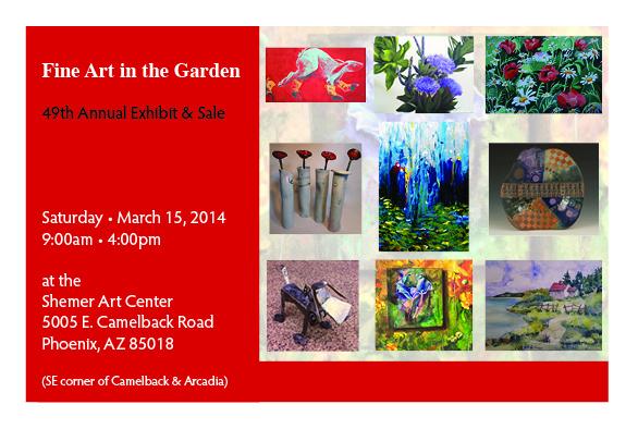 Art in the Garden Sue Hunter Christine Sandiflur FrontH 2014